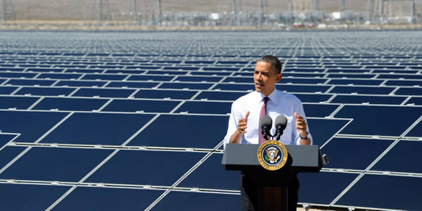 President Obama Solar Image gogreenlightenergy.com