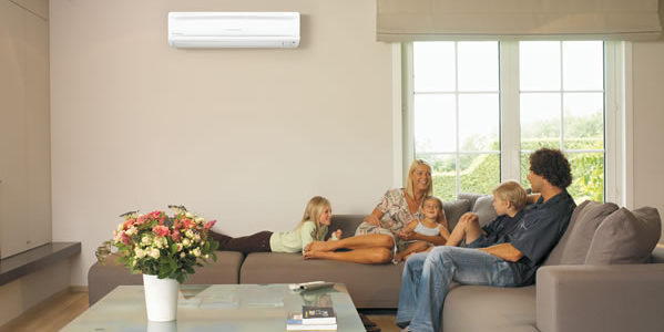 Beat the Heat Family Indoors Air Conditioning Image